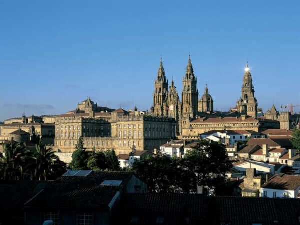 Vista catedral de Santiago
